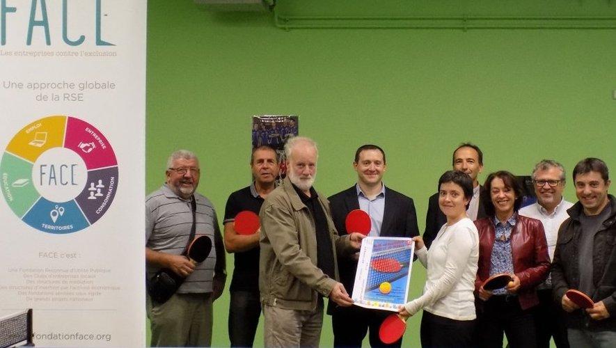 Les représentants de l'association Face Aveyron, du comité départemental de ping-pong et des organismes partenaires seront autour de la table, mercredi à l'Amphi.