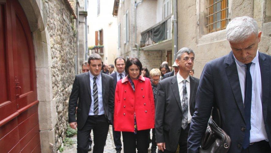 Jean-Sébastien Orcibal et Éric Cantournet avec la présidente du PRG Sylvia  Pinel.