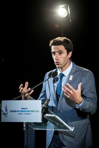 Tony Estanguet, co-président du comité d'organisation de Paris-2024, le 7 octobre 2016 au Bourget