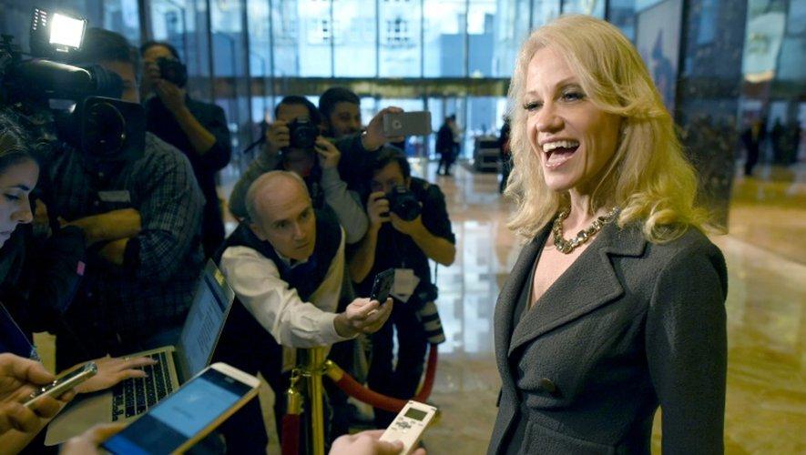 Kellyanne Conway, responsable de la campagne de Donald Trump devant la presse à la Trump Tower à New York, le 16 novembre 2016
