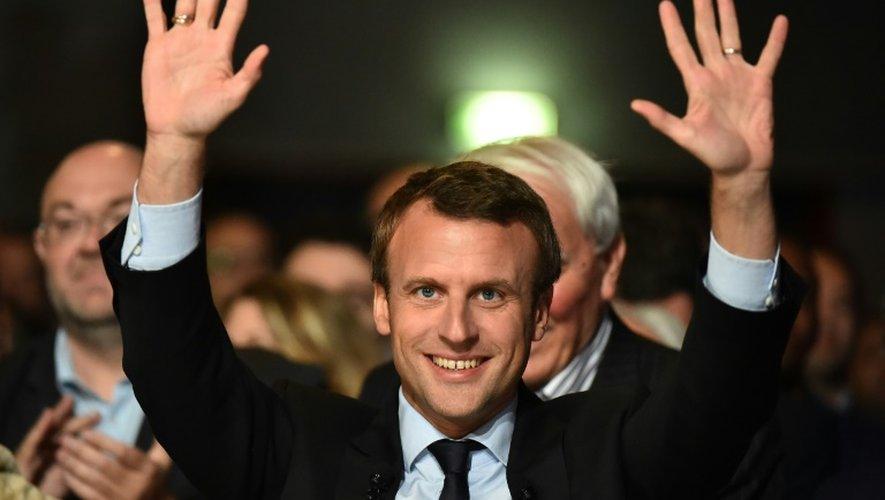 Emmanuel Macron le 11 octrobre 2016 au Mans