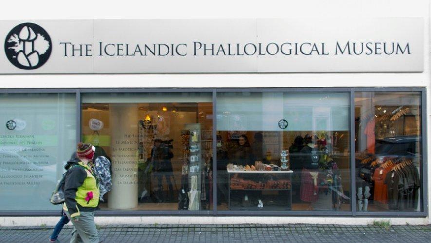 Vue extérieure du musée du phallus à Reykjavik en Islande, le 27 octobre 2016