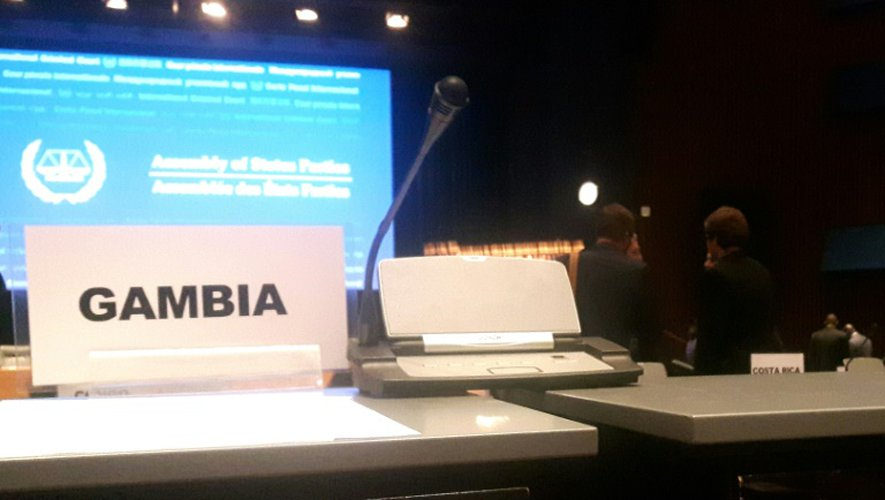 Le siège vide de la Gambie lors de la 15e Assemblée des Etats parties au statut de Rome à La Haye
