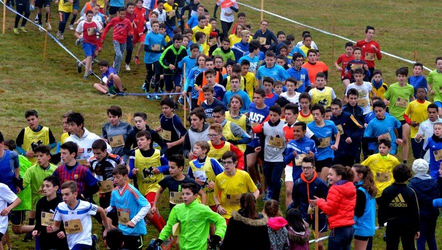 Quelque 3500 élèves au départ du cross scolaire à Baraqueville