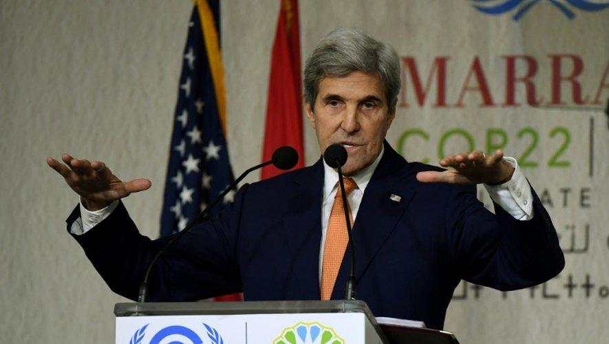 Le secrétaire d'Etat américain John Kerry à Marrakech, le 16 novembre 2016