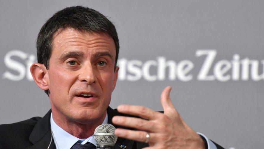 Manuel Valls lors d'un colloque économique organisé par le Sueddeutsche Zeitung à Berlin le 17 novembre 2016