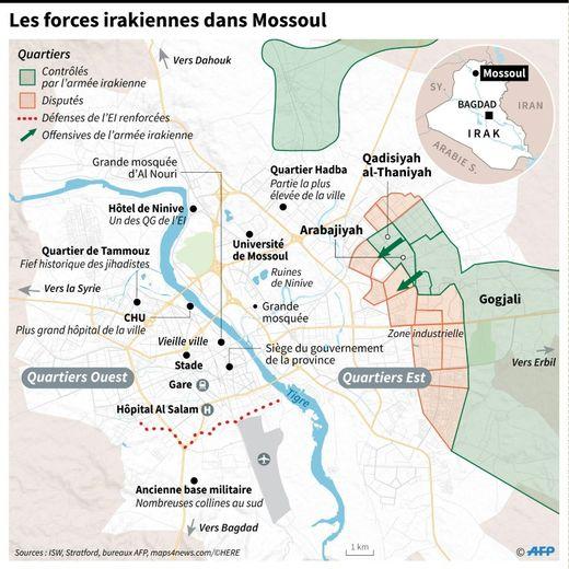 Les forces irakiennes dans Mossoul