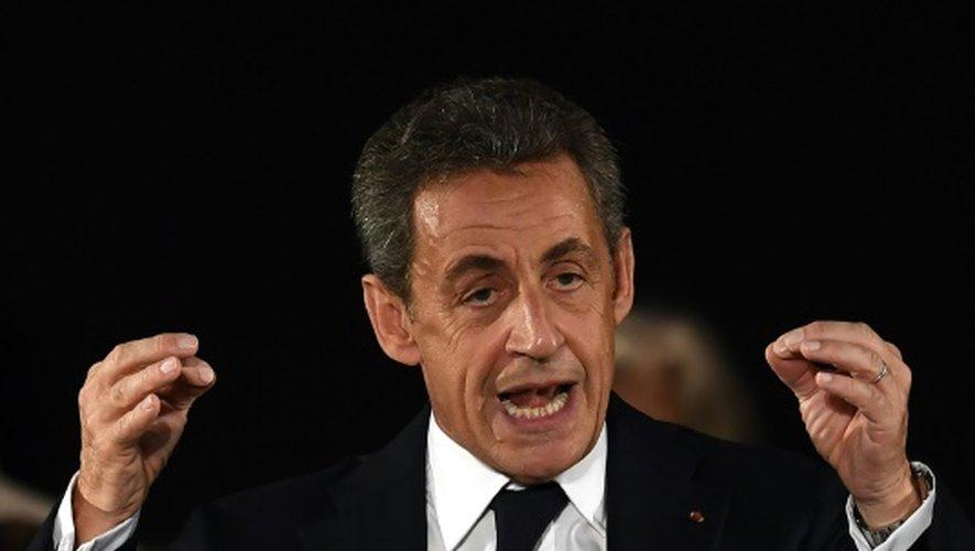 Nicolas Sarkozy, candidat à la primaire de la droite le 18 novembre 2016 à Nîmes