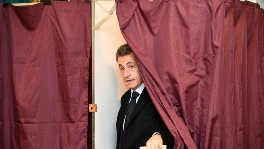 Nicolas Sarkozy, candidat à la primaire de la droite, le 20 novembre 2016 à Paris