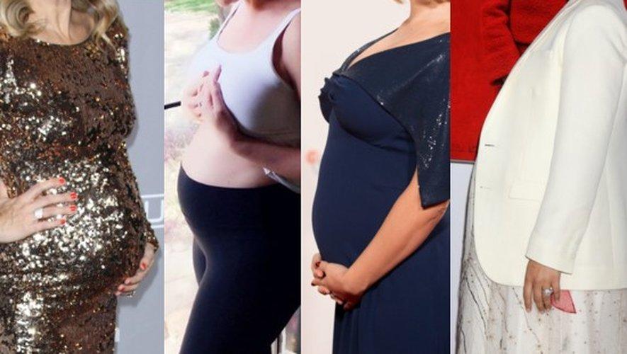 Les rondeurs de grossesse de Molly Sims, Katherine Heigl, Léa Seydoux et Natalie Portman