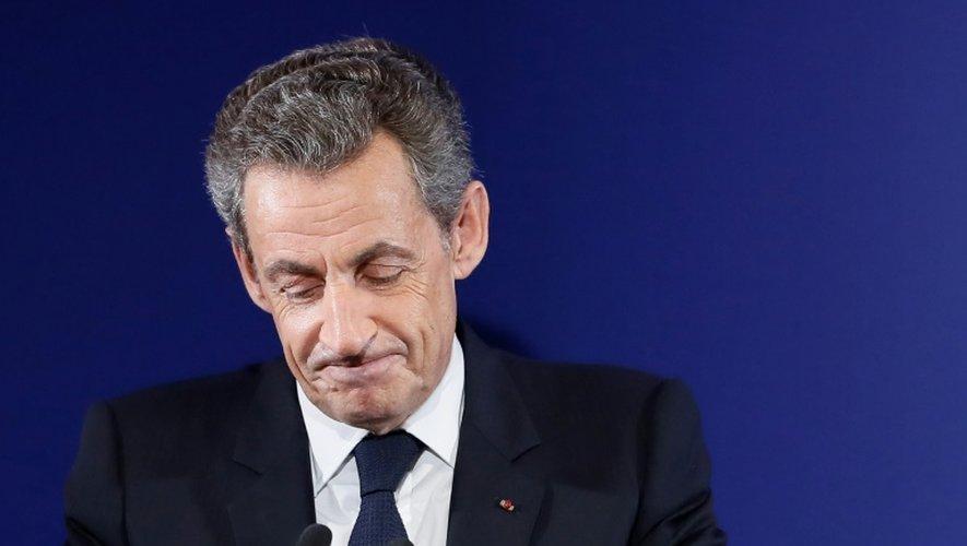 Nicolas Sarkozy à son siège de campagne le 20 novembre 2016 à Paris