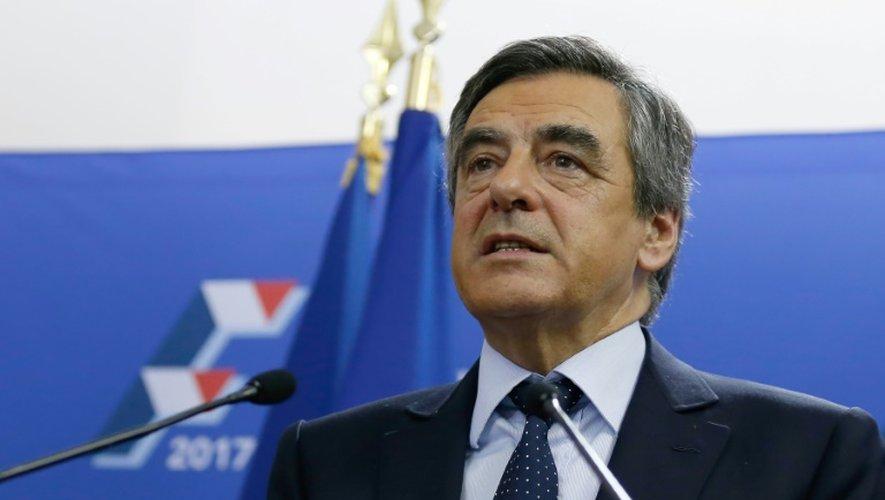 François Fillon lors de son allocution au soir du premier toure de la primaire de la droite et du centre, le 20 novembre 2016 à Paris