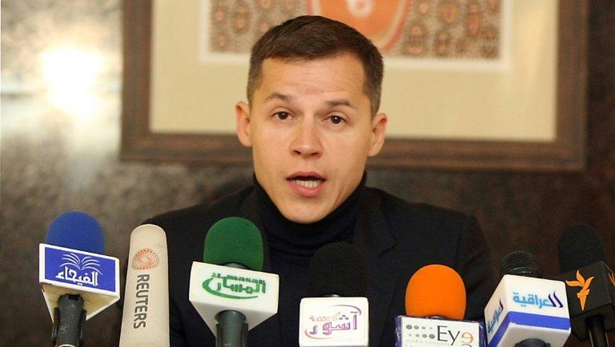 Boris Boillon, lors d'une conférence de presse à Bagdad, le 30 janvier 2011