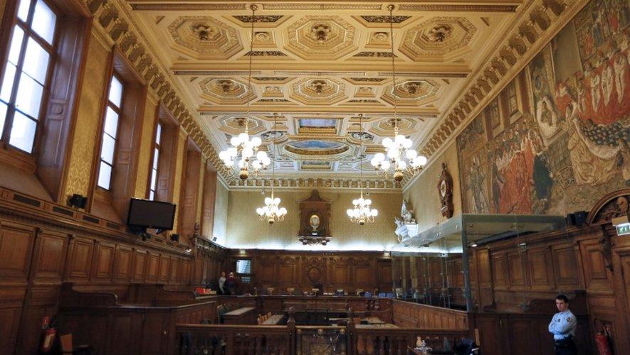 Une salle d'audience de la cour d'assises de Paris le 27 novembre 2012