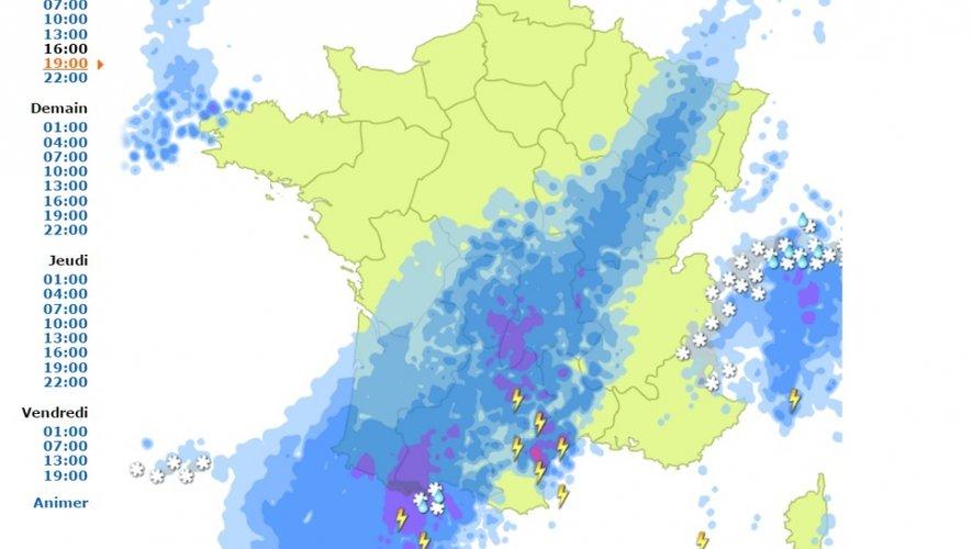 Aveyron : pluie et vent au programme