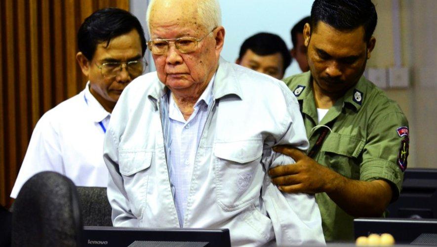 L'ancien dirigeant khmer rouge Khieu Samphan au tribunal international de Phnom Penh, le 23 novembre 2016 au Cambodge