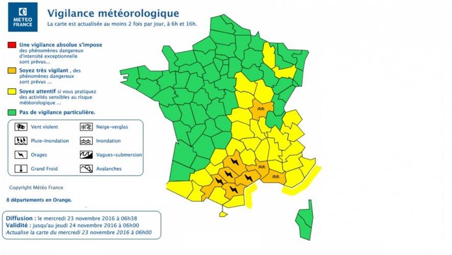 Orages. Vigilance orange en Aveyron