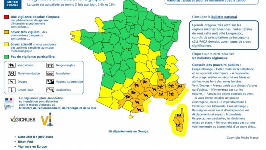 Des orages accompagnés de grêle attendus cette nuit en Aveyron