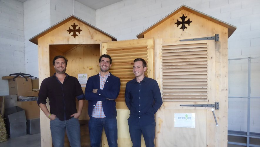 Eric Terrisson, à gauche et Etienne Favié, au centre.