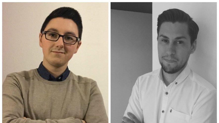 Dorian Richard, à gauche, et Geoffrey Vidal, à droite, feront part de leur expérience samedi sur le salon On'innov, en fin d'après-midi.