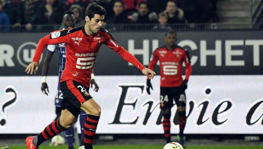 Le milieu de Rennes Yoann Gourcuff contre Toulouse le 25 novembre 2016 au Roazhon park