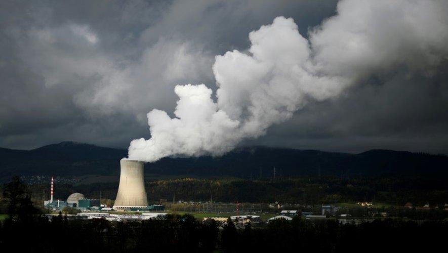 La centrale nucléaire Gosgen dans la province de Soleure au nord de la Suisse, le 11 novembre 2016