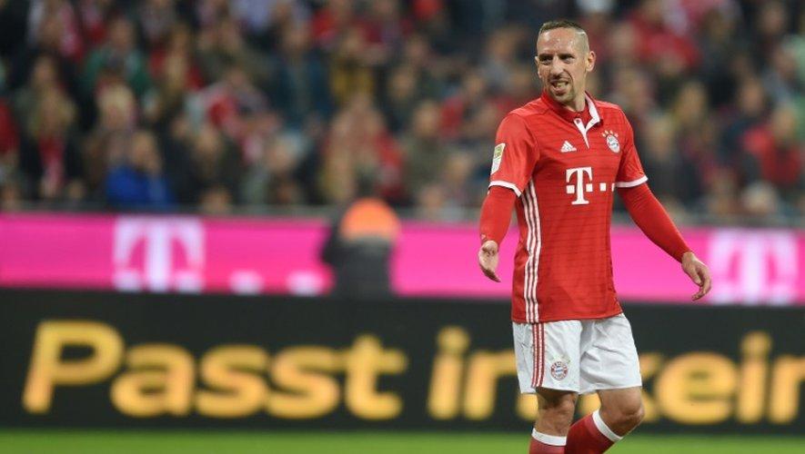Franck Ribéry lors d'un match avec le Bayern face au Hertha Berlin, le 21 septembre 2016 à Munich