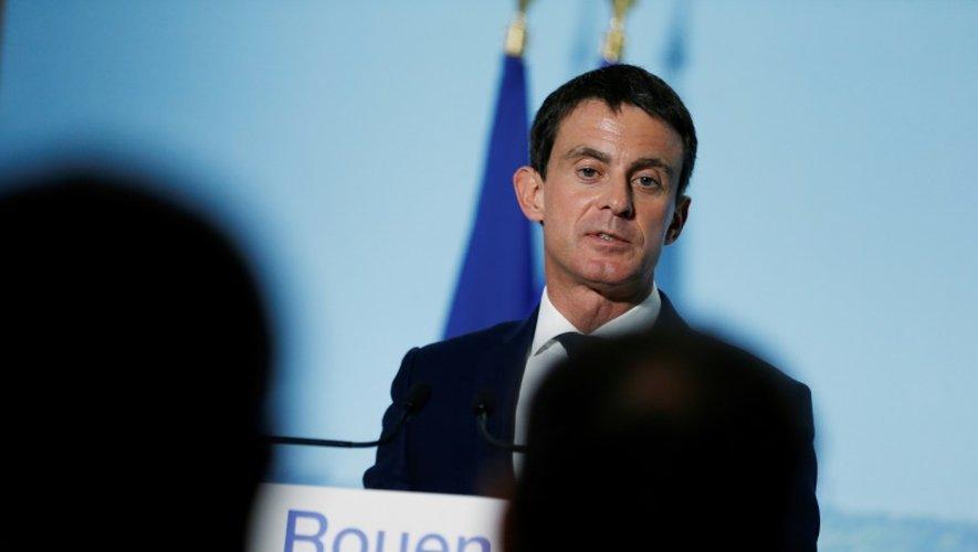 Le Premier ministre Manuel Valls à Rouen le 28 novembre 2016