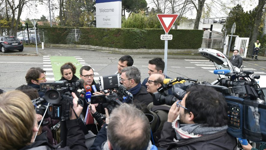 """Les annonces de la direction ont eu lieu lors d'un comité européen de groupe à Blagnac, dans la banlieue de Toulouse. Les syndicats dénoncent une """"logique financière"""" qui pousse un groupe bénéficiaire à supprimer plus de 1.000 postes. Le 29 novembre 2016"""