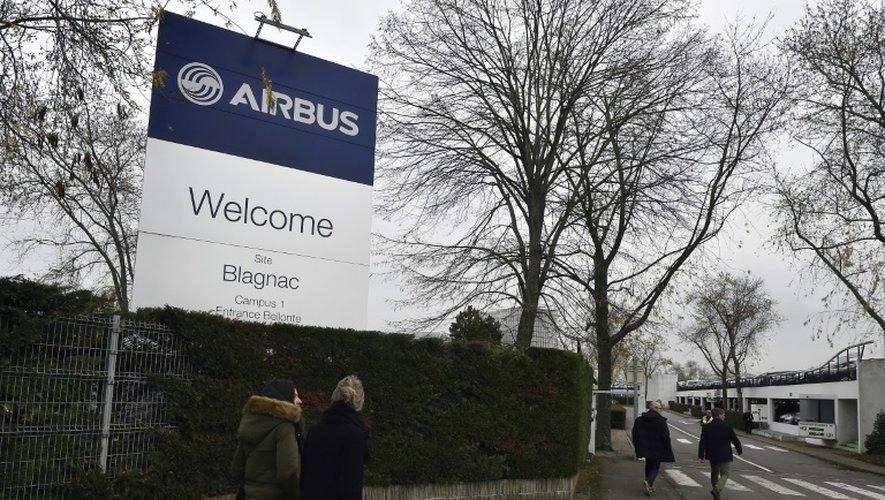 L'entrée de l'usine d'assemblage Airbus de Blagnac, le 29 novembre 2016