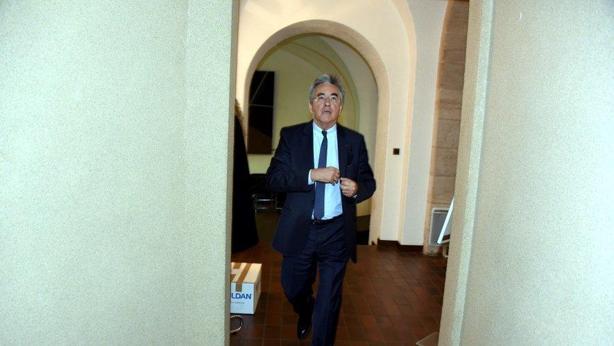 Jean-François Galliard, à la sortie du vote de la majorité, ce mardi matin à Rodez.