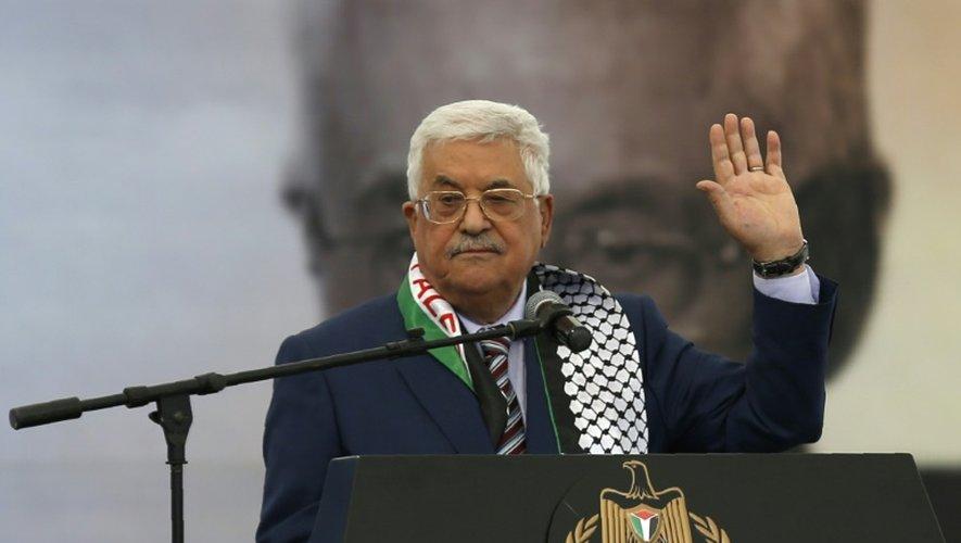 Le leader palestinien Mahmoud Abbas, le 10 novembre 2016 à Ramallah