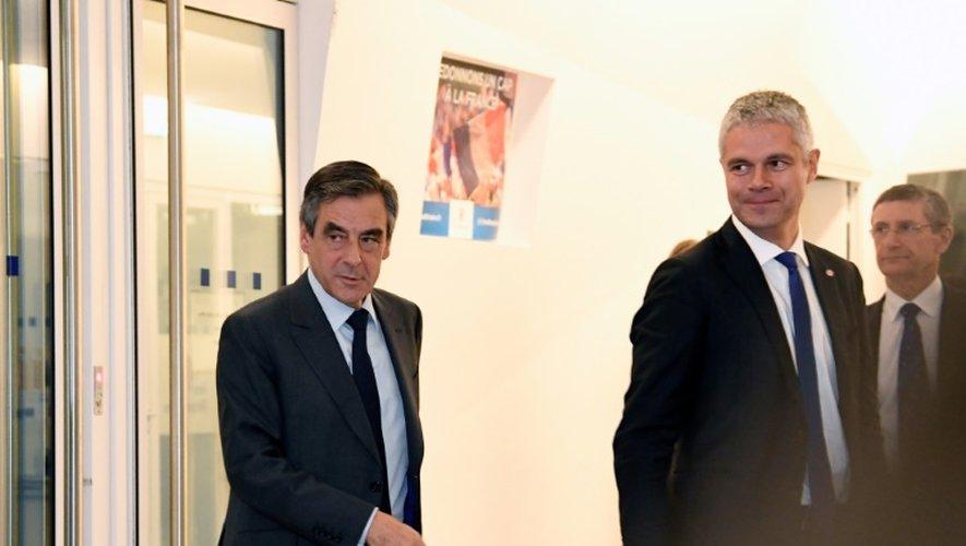 François Fillon et Laurent Wauquiez le 29 novembre 2016 à Paris