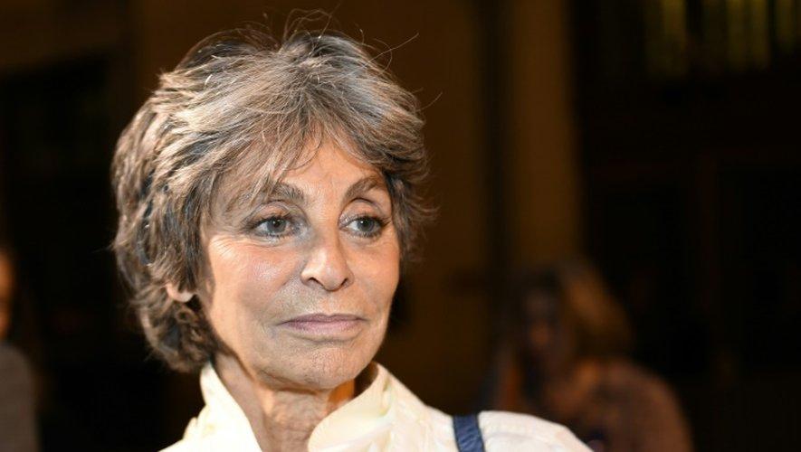 L'héritière de la maison de couture Nina Ricci, Arlette Ricci, à Paris, le 16 février 2015