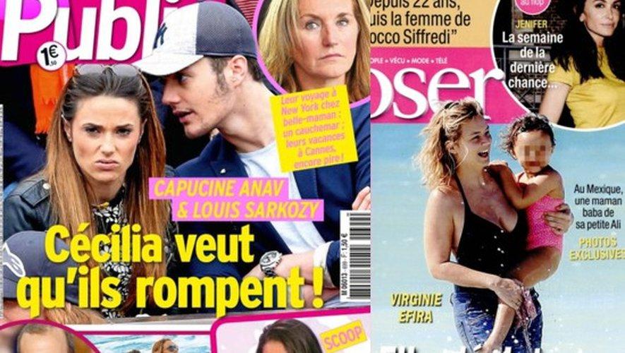 Capucine Anav et Louis Sarkozy, Virginie Efira maman, Sophie Marceau…