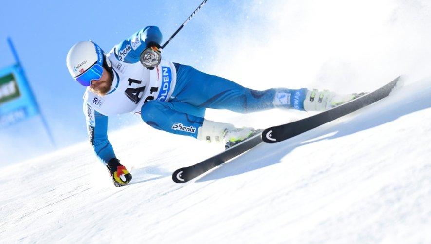Le Norvégien Kjetil Jansrud lors de la 1re manche du slalom géant de Sölden (Autriche), le 23 octore 2016