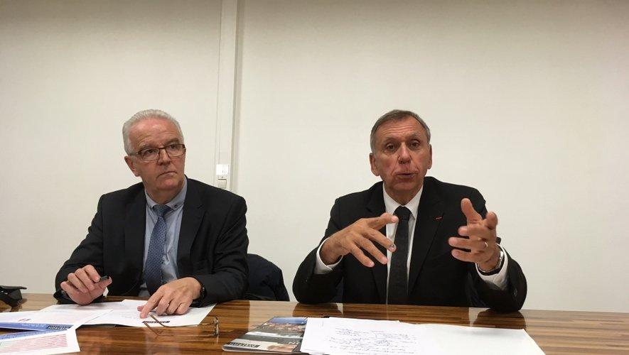 Jean-Luc Calmelly, vice-président du comité départemental de tourisme et Jean-Claude Luche, président ont présenté les chiffres du tourisme de l'année 2016.