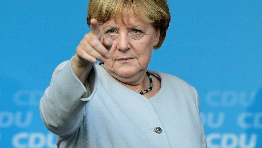 La chancelière allemande Angela Merkel à Berlin le 14 septembre 2016