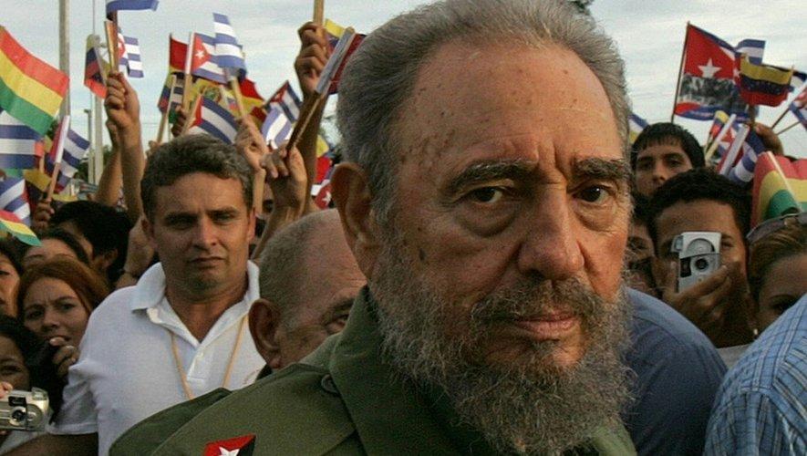 Fidel Castro, le 26 juillet 2006 dans la ville cubaine d'Holguin