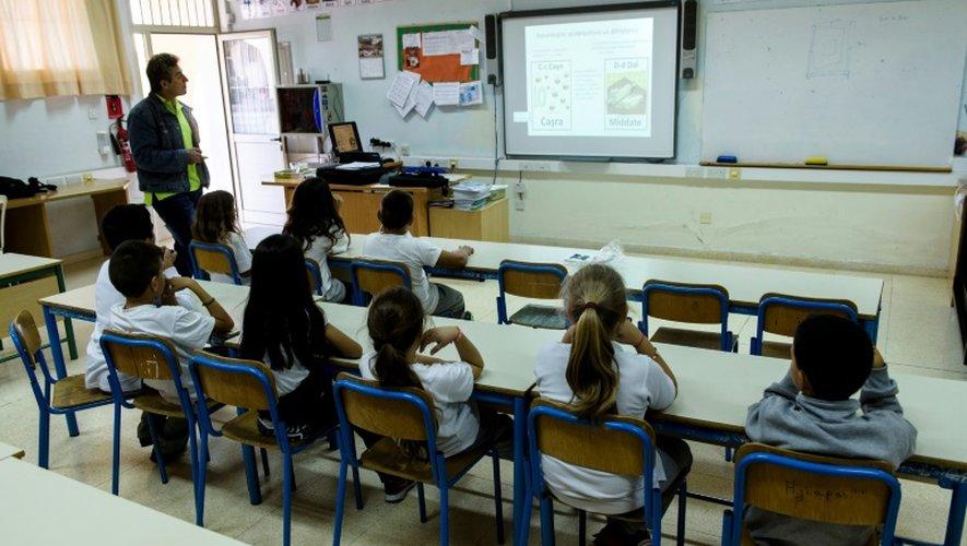 Cours de la langue araméenne à Nicosie, le 4 novembre 2016