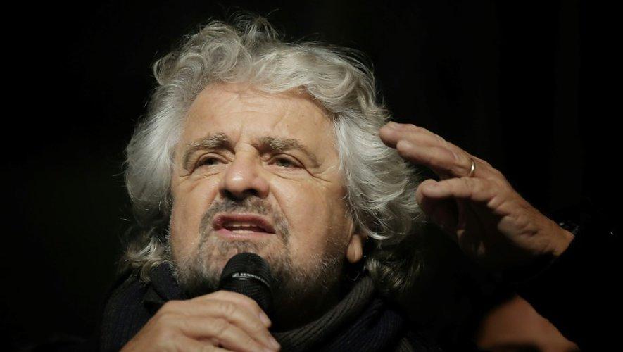 Le leader du Mouvement 5 étoiles (M5S) Beppe Grillo à TUrin, en Italie, le 2 décembre 2016
