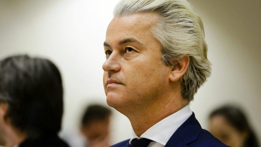 Le leader d'extrême droite néerlandais Geert Wilders à Schiphol, aux Pays-Bas, le 18 mars 2016