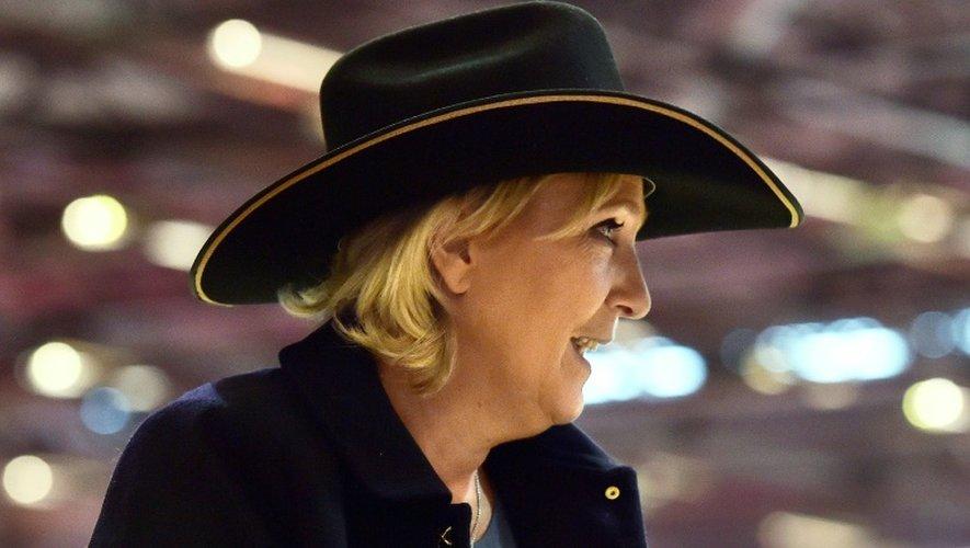 La présidente du Front national Marine Le Pen à Villepinte, près de Paris, le 2 décembre 2016
