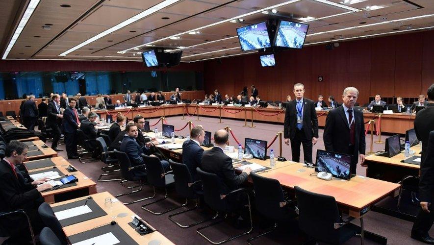 Les ministres des Finances de la zone euro, réunis le 5 décembre 2016 à Bruxelles