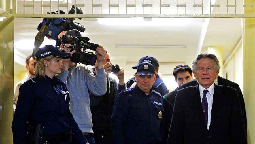 Roman Polanski à son arrivée au tribunal, le 25 février 2015 à Cracovie, en Pologne