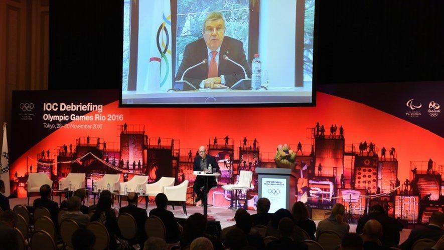 Le président du CIO Thomas Bach, le 30 novembre 2016 à Tokyo