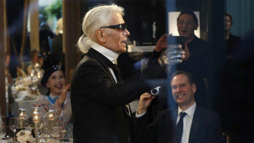 Karl Lagerfeld au Ritz à Paris, le 6 décembre 2016