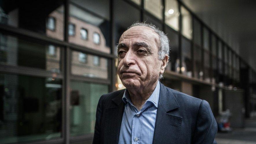 Ziad Takieddine à son arrivée au pôle anti-corruption le 17 novembre 2016 à Nanterre