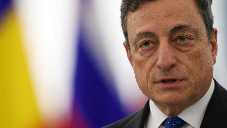 Le président de la BCE, Mario Draghi, le 21 novembre 2016 à Strasbourg