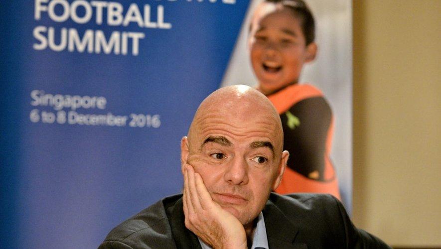 Le président de la FIFA Gianni Infantino le 8 décembre 2016 à Singapour
